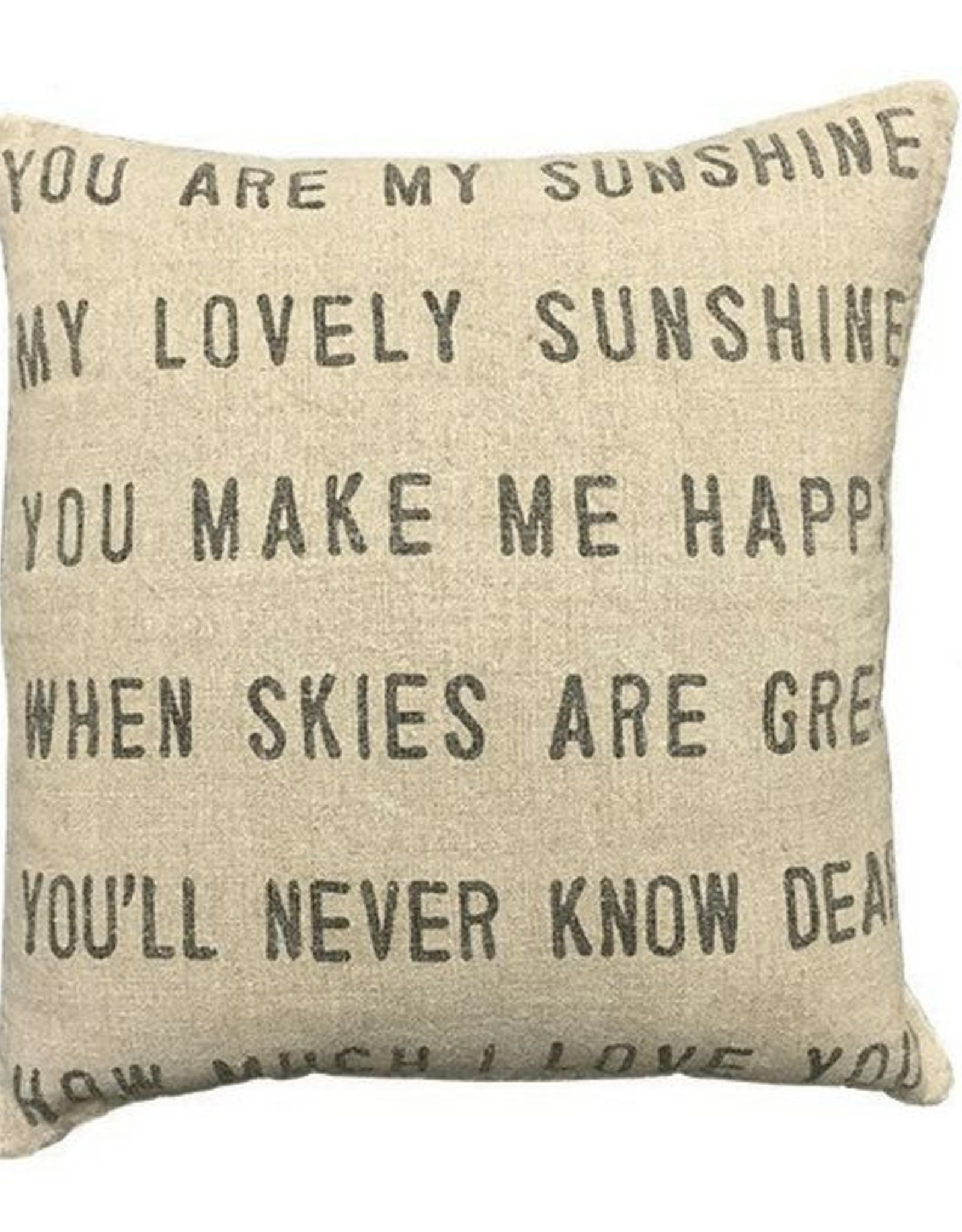 """Website You Are My Sunshine Pillow 24"""""""