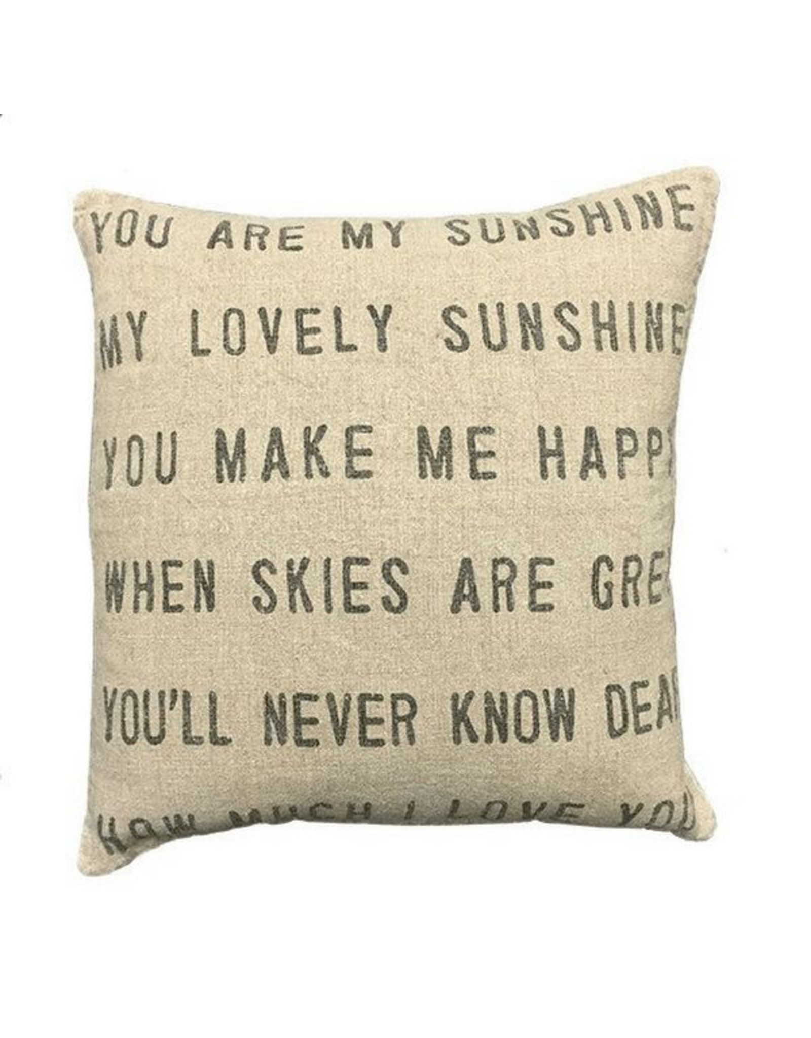 """You Are My Sunshine Pillow 24"""""""
