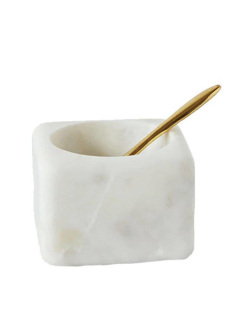 Marble Salt w/ Brass Spoon