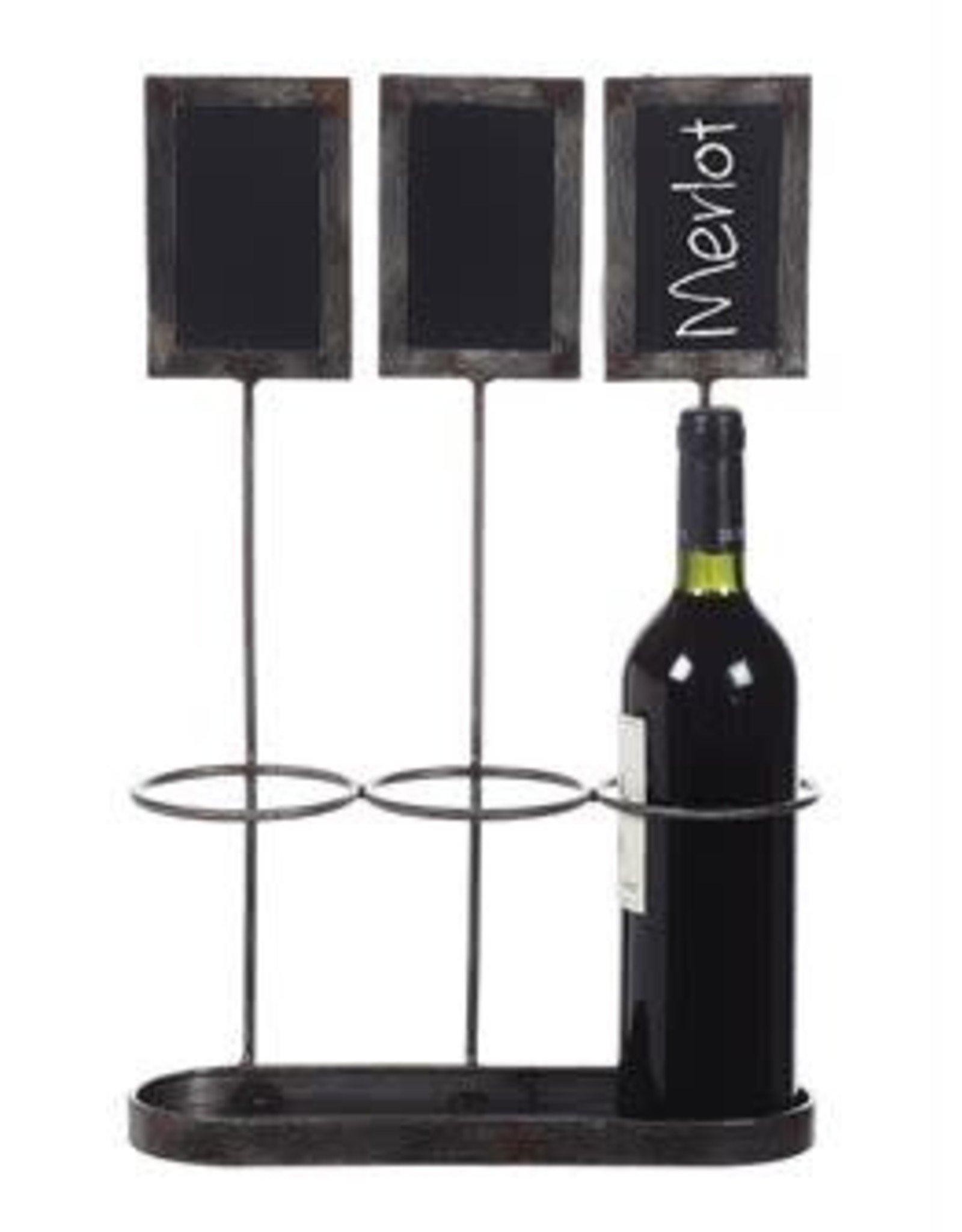 Wine Holder w/ Chalkboards