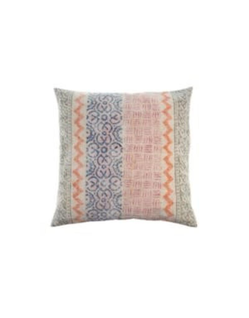 Stonewashed Woven Pillow w/ Blue/Orange