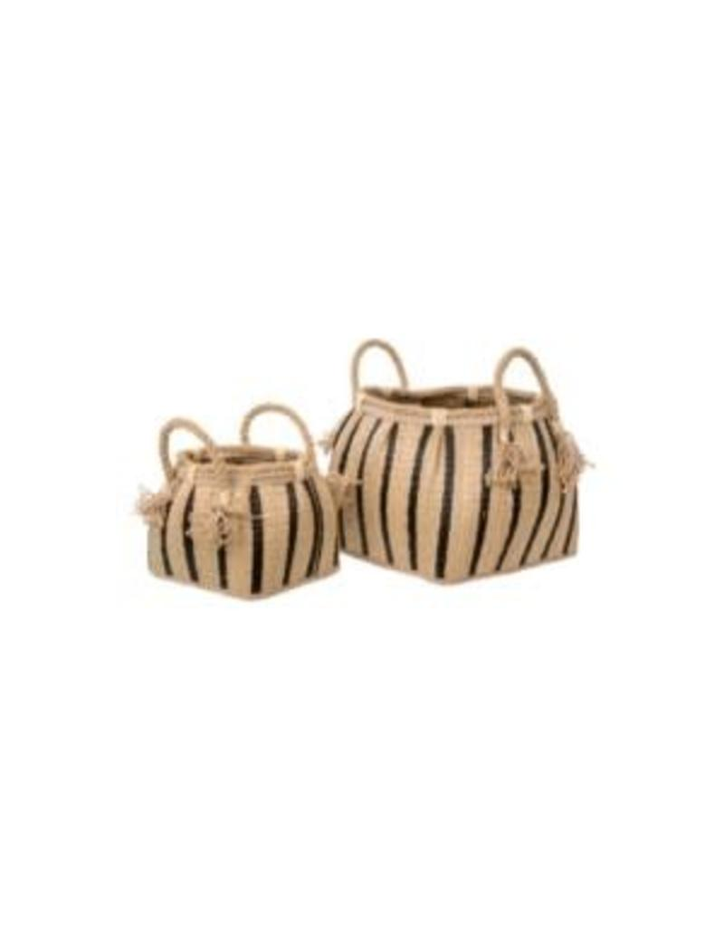 Havana Stripe Basket - small