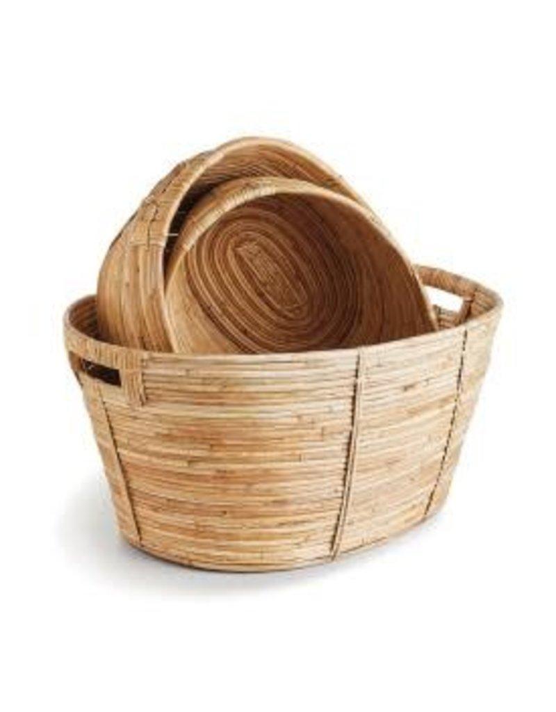 Cane Rattan Oval Basket - medium