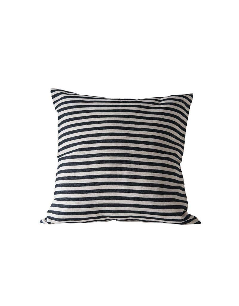 "26"" Cotton Woven Striped Pillow"
