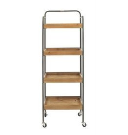 Display Metal & Wood Rack on Casters