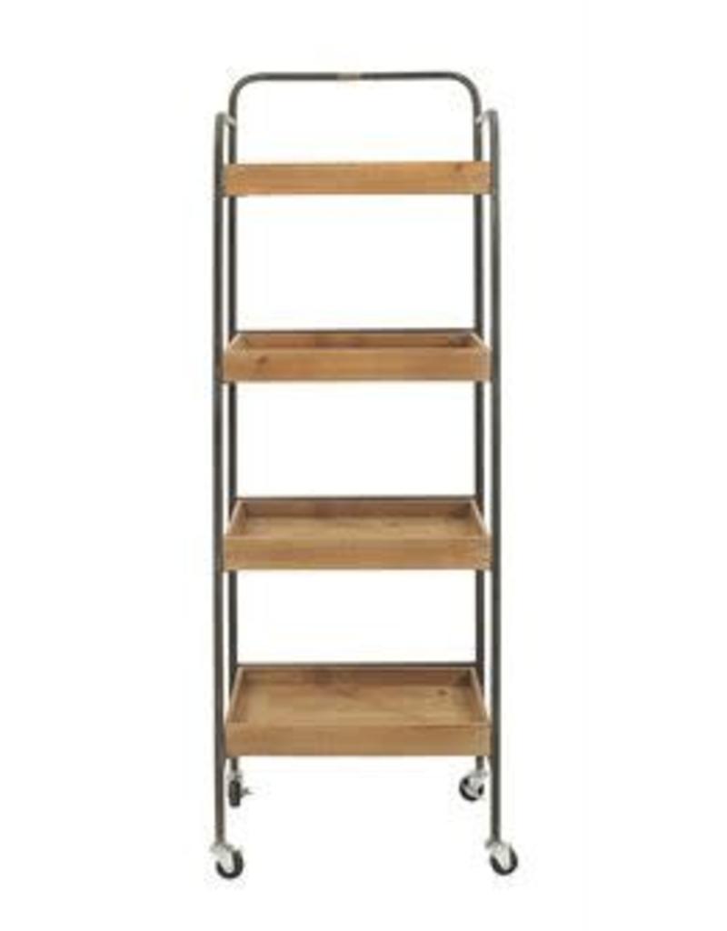 Display Metal & Wood Rack on Casters