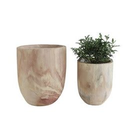 Paulownia Wood Pot - large