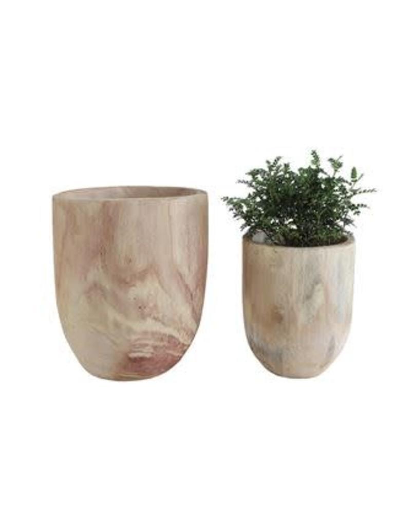Paulownia Wood Pot - large