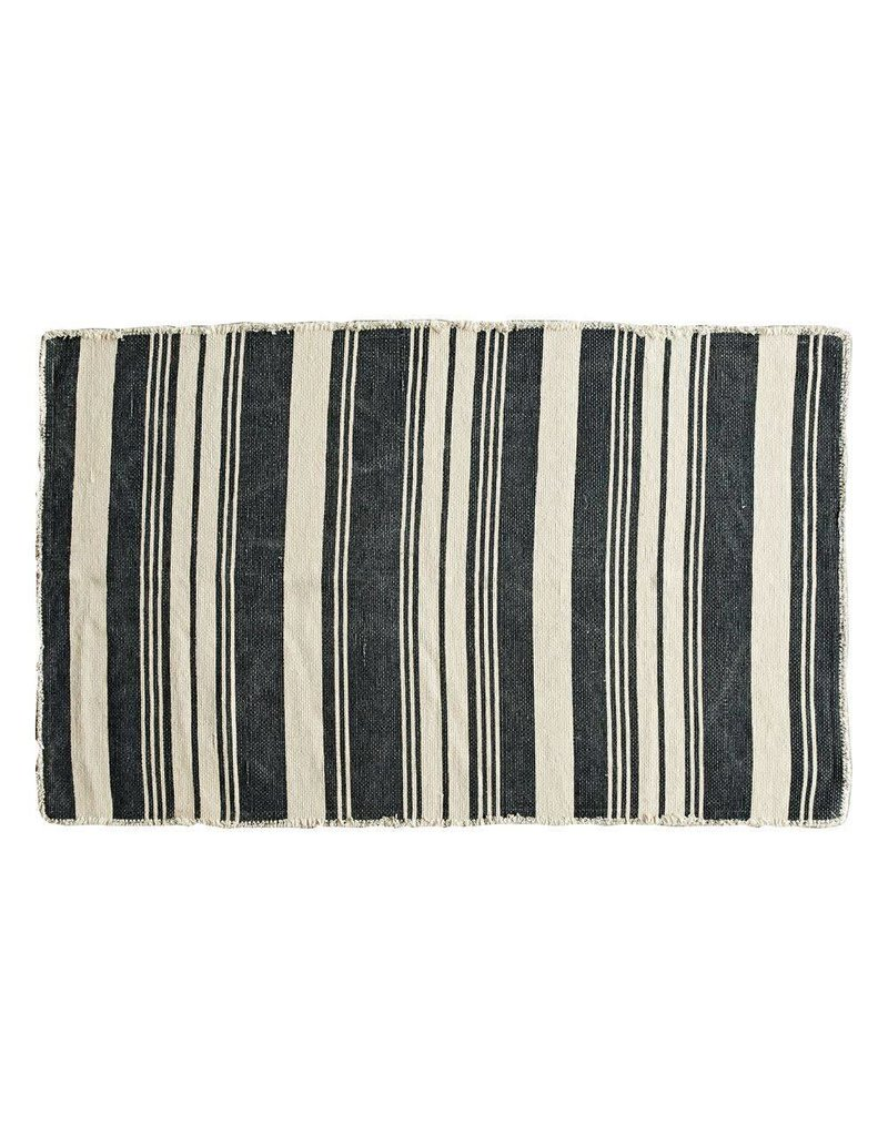 3x5 Cotton Rug w/ Stripes
