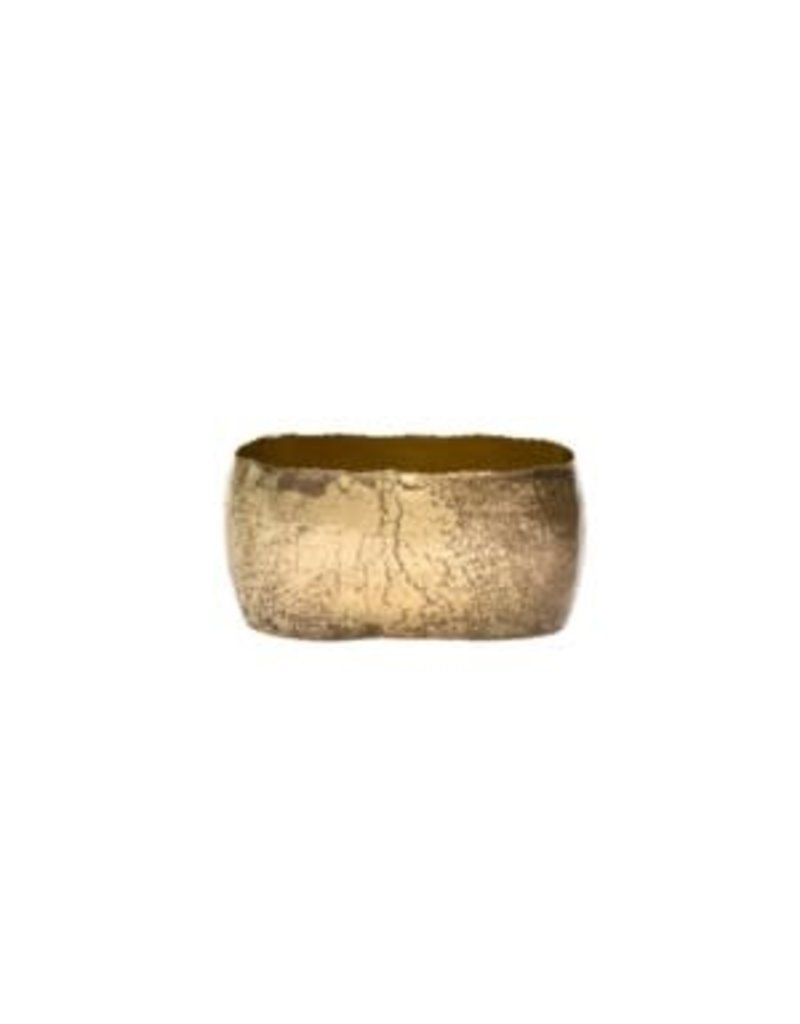 Crackle Gold Vase - small