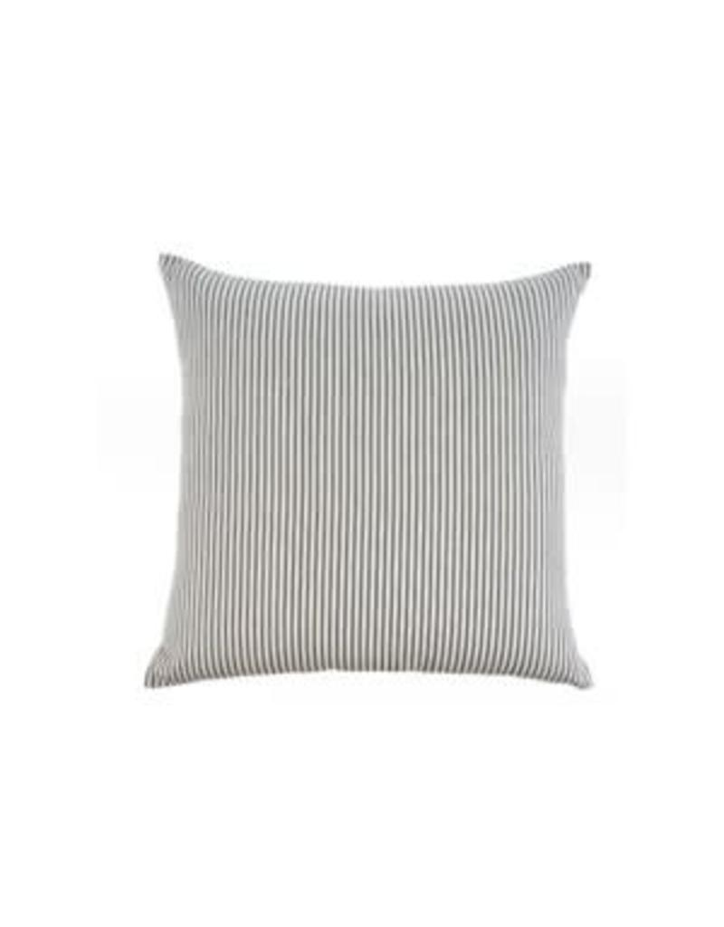 Ticking Cushion - Black