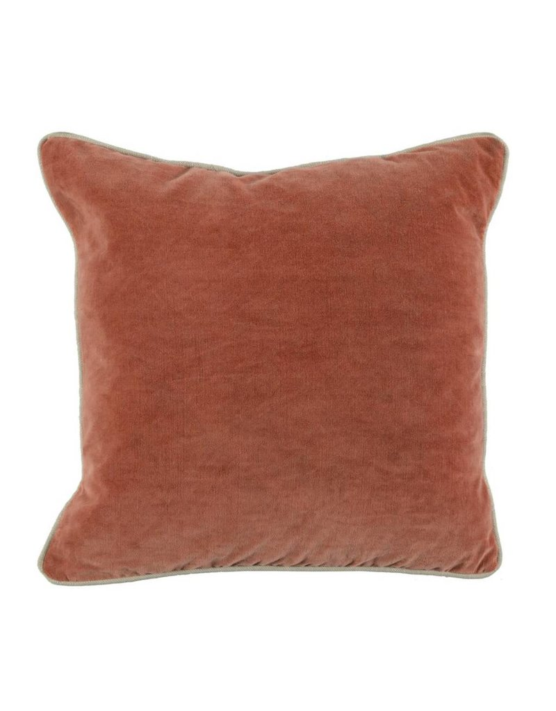 """Heirloom Velvet Terra Cotta Pillow 18"""""""