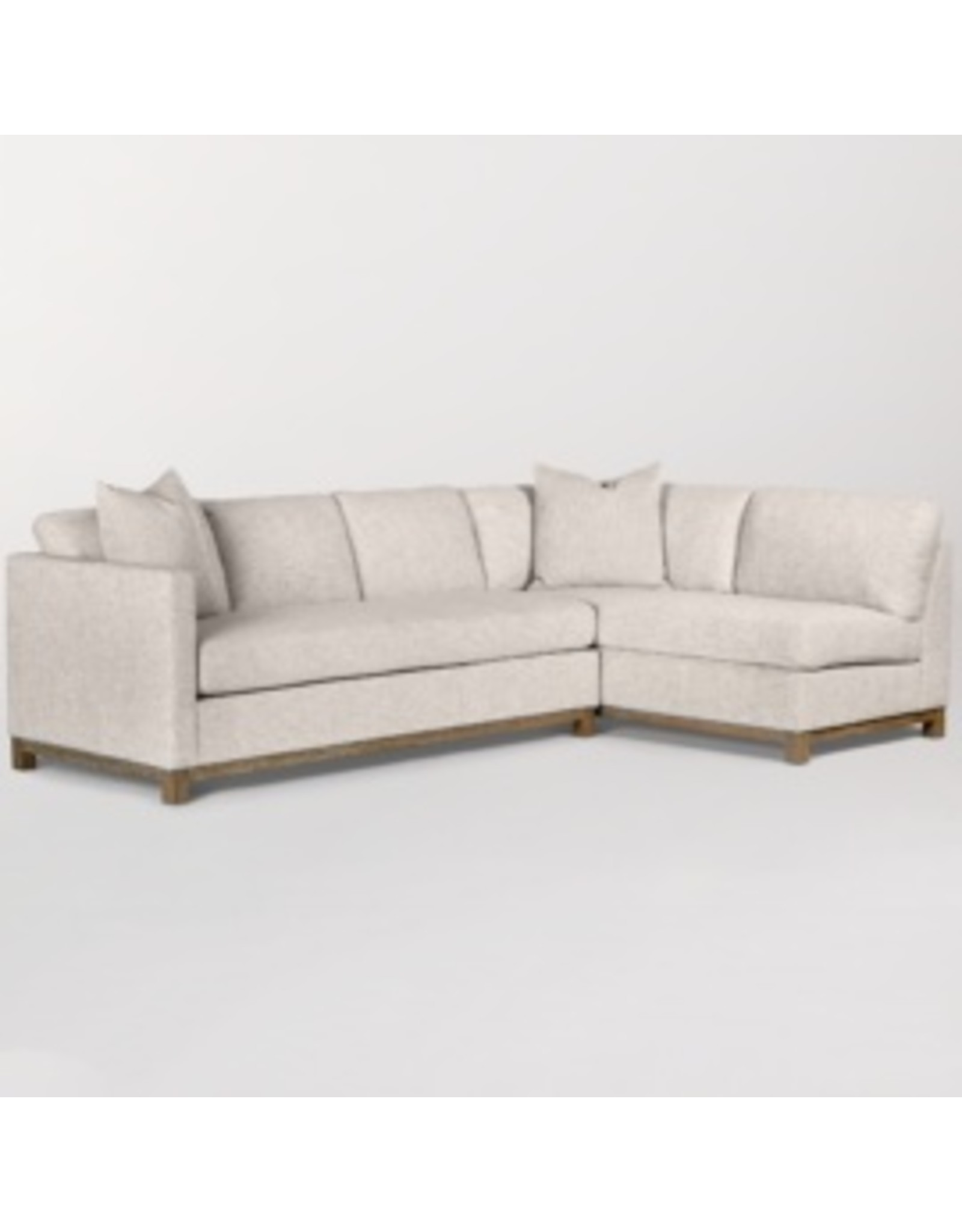 Clayton Sectional and Ottoman - Left Arm Facing