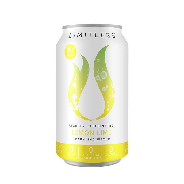 Limitless Sparkling Water Lemon Lime (12OZ CAN)