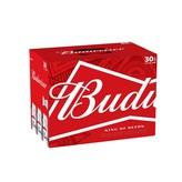 Anheuser-Busch Budweiser (30PK/12OZ CANS)