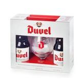 Duvel Duvel Four Pack Gift Set (2 Belgian Golden Ale, 1 Signature Glass, 2 Duvel Tripel Hop with Citra)