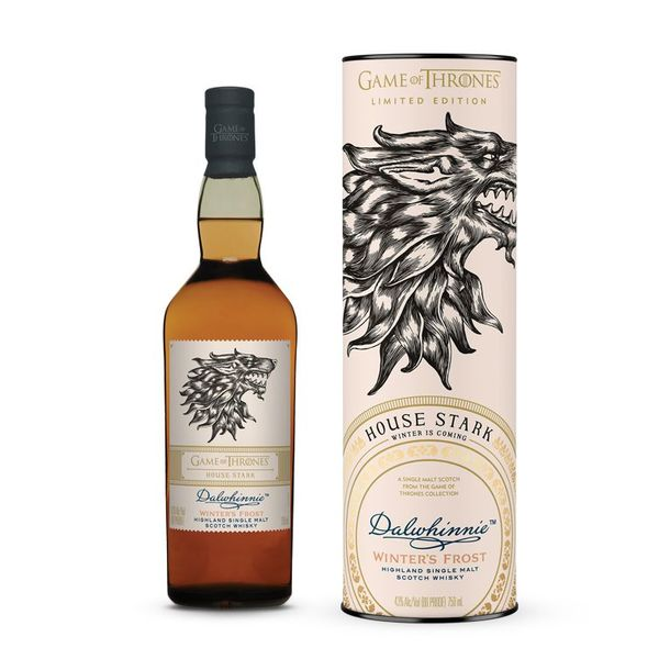 Dalwhinnie Winter's Frost Game of Thrones House Stark Highland Single Malt Scotch Whisky (750ML)