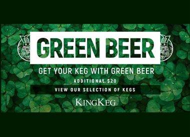 Green Beer Kegs