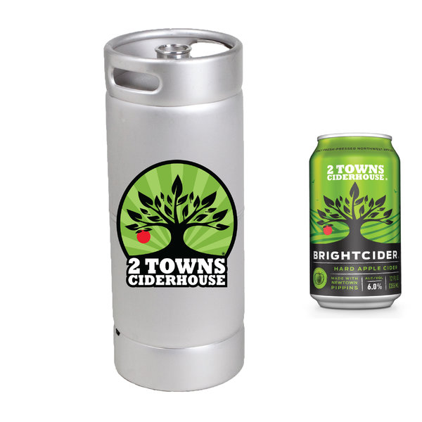 2 Towns Ciderhouse 2 Towns Ciderhouse Brightcider Hard Apple Cider (5.5GAL KEG)