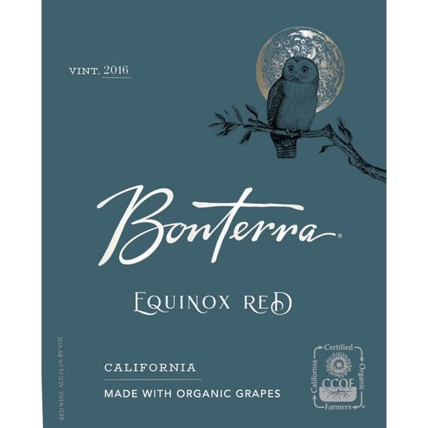 Bonterra Organically Grown Equinox Red Blend (750ml)