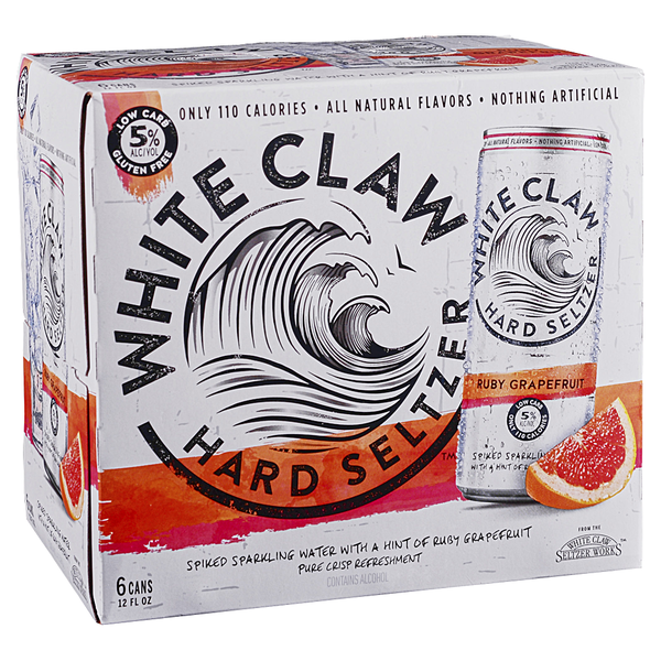 White Claw Hard Selzer Ruby Grapefruit (6PK/12OZ CAN)