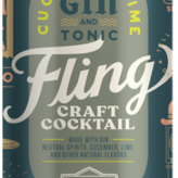 Boulevard Brewing Fling Craft Cocktails Cucumber Lime Gin and Tonic (4pkc/12oz)