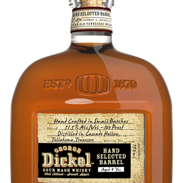 George Dickel Hand Selected Barrel 9 Years Tennessee Whisky (750ml)
