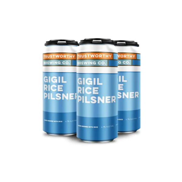"Trustworthy brewing ""gigil"" Rice Pilsner (16OZ)"