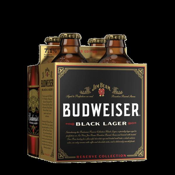 Budweiser Jim Beam Black Lager (12OZ/4PK BTL)