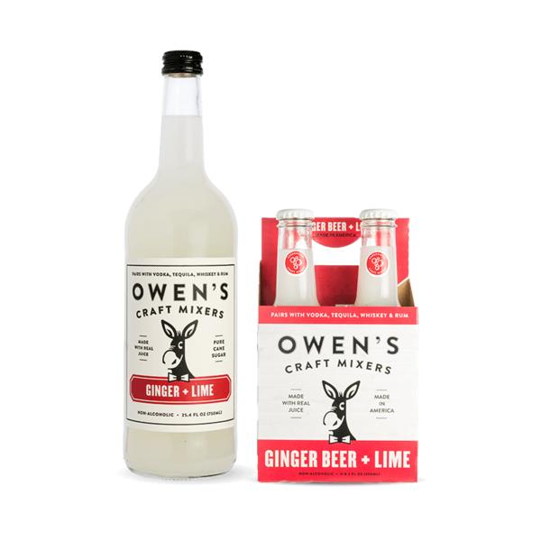 Owen's Craft Mixers Ginger Beer + Lime (250ml)
