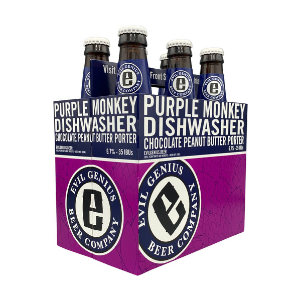 Evil Genius Purple Monkey Dishwasher Chocolate Peanut Butter Porter (6PK/12OZ BTL)