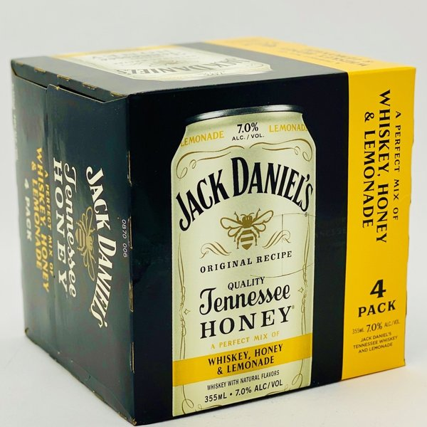 Jack Daniel's Jack Daniel's Whiskey, Lemonade & Honey (355ML/4PK)