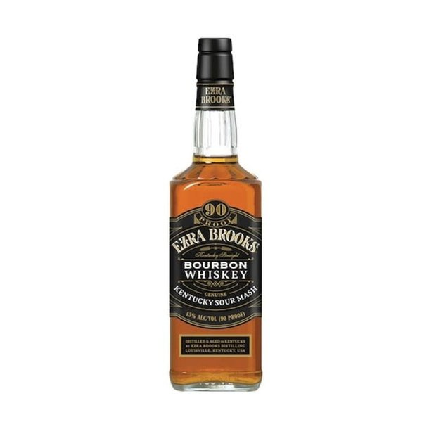 Ezra Brooks 90 Proof Bourbon Whiskey (750ML)