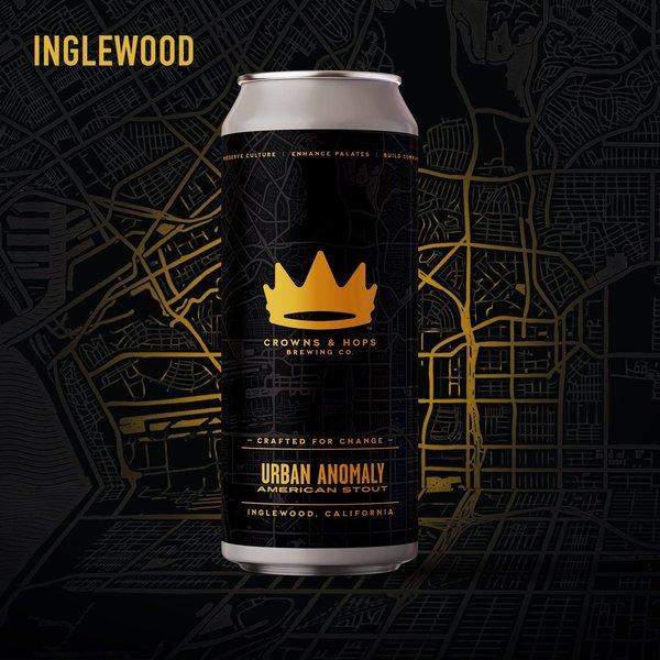 Crown & Hops Urban Anomaly American Stout (4PK/16OZ CAN )