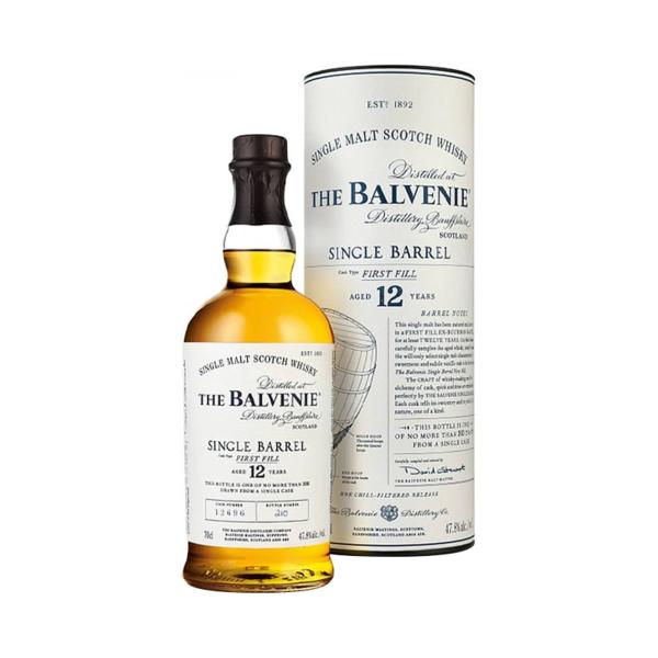 The Balvenie Balvenie 12 Year Old Single Barrel Single Malt Scotch Whisky (750ml)