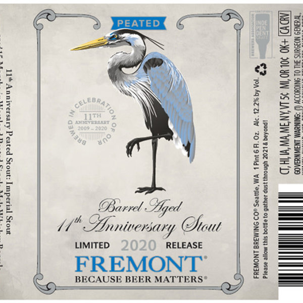 Fremont Brewing Fremont Brewing Barrel Age 11th Anniversary Stout Limited  (750ml)