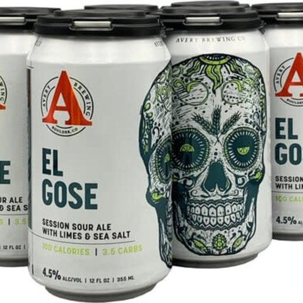 Avery Brewery Avery Brewing El Gose German-Style Sour Ale with Lime and Sea Salt Added (12OZ/6PK CAN)