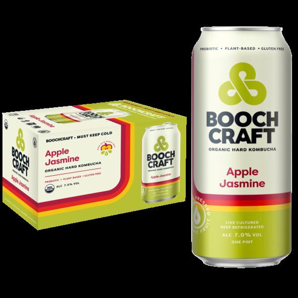 Boochcraft Boochcraft Apple Jasmine Organic hard Kombucha (6pkc/12oz)
