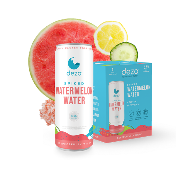 Dezo Spiked Watermelon Water (4pkc/12oz)