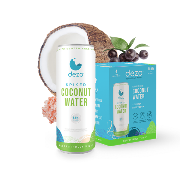 Dezo Spiked Coconut Water (4pkc/12oz)