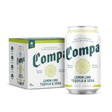 Compa Lemon Lime Tequila & Soda (4pk/12oz)