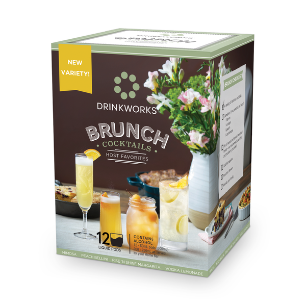 Drinkworks Brunch Cocktail Host Favorites (12 Pod Box)