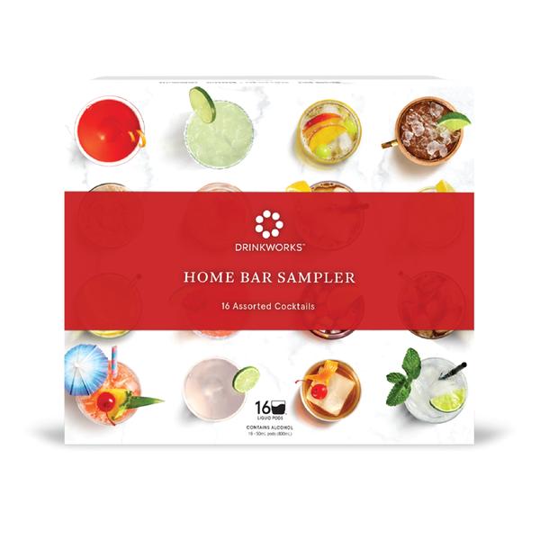 Drinkworks Home Bar Sampler 16 Assorted Cocktails (16 Pod Box)