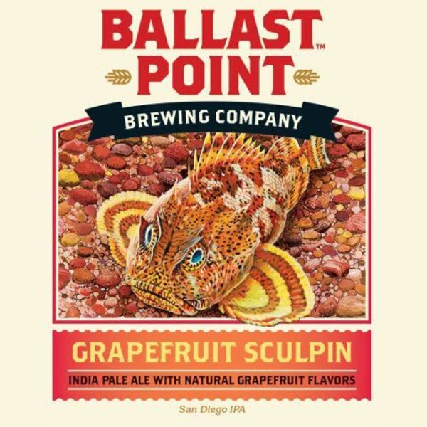 Ballast Point Brewing Company Sculpin Grapefruit (15.5 GAL KEG)