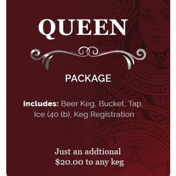 KingKeg Queen Package Party Rental