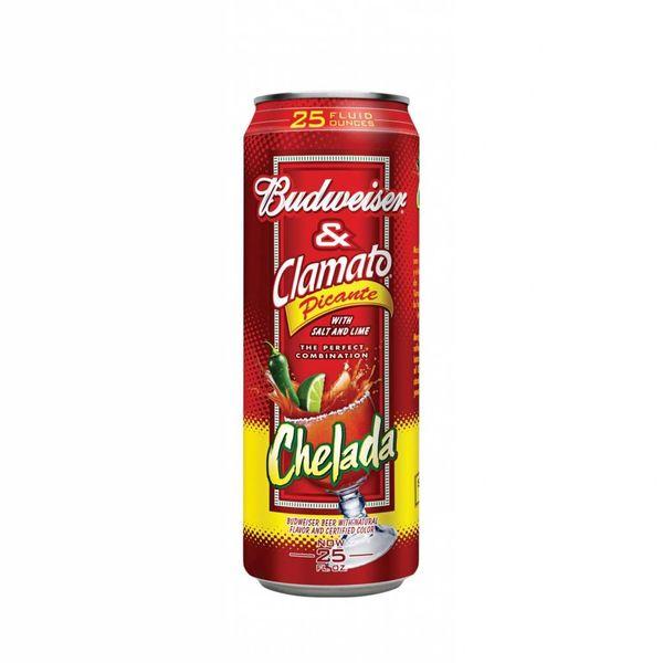 Anheuser-Busch Budweiser & Clamato Picante Chelada (25oz)