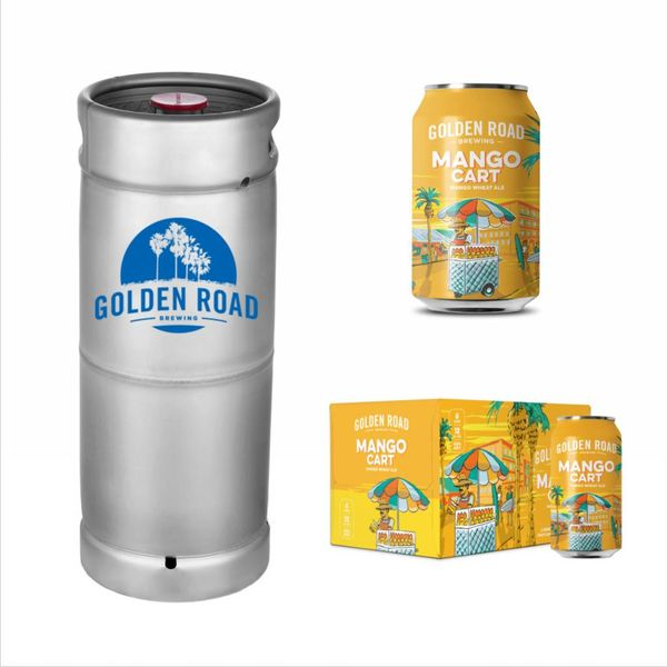 Golden Road Golden Road Mango Cart Mango Wheat Ale (5.5 GAL KEG)