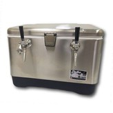 KingKeg Stainless Steel Double Faucet Jockey Box Rental with Co2