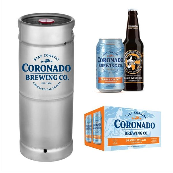 Coronado Brewing Coronado Orange Ave. Wit (5.5 GAL KEG)