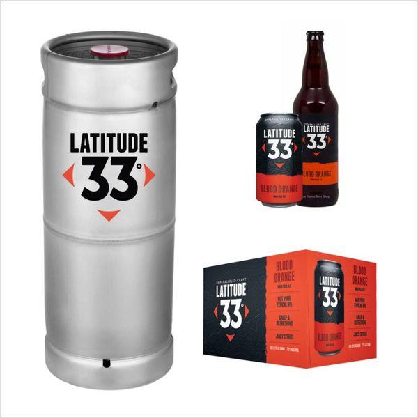 Latitude 33 Brewing Latitude 33 Blood Orange IPA (5.5 GAL KEG)